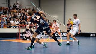 Daniel GIdske lossar bössan under förra årets match mot smålänningarna