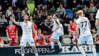 Mullsjö firar ett mål i ett av bortamötena med JIK förra säsongen.