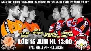 Missa inte det historiska mötet när Skånes två bästa lag i respektive sport gör upp!
