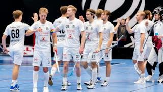 Täby FCs herrar målfirar mot Balrog