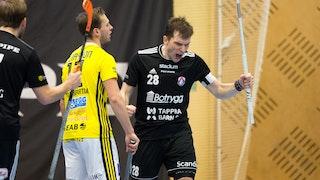 Linköpings Matej Jendrisak efter ett av hans två mål. Foto: Ted Malm