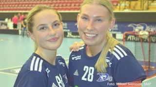 Elin Källström (t.v.) och Amanda Lind (t.h.)